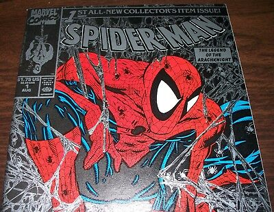 Spider-Man #1 Todd McFarlane Series Silver Edition from Aug 1990 in VF/NM con DM
