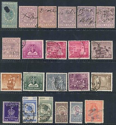 India small lot of (22) x used Mixed Revenue stamps