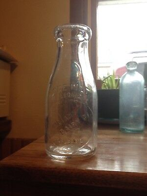 SOUTH BEND INDIANA IND. pint milk bottle. INDIANA DAIRY CO. Late 20's history