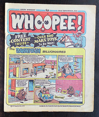 Whoopee Comic. 22 November 1975. Vfn. World Wide Weirdies On Back.