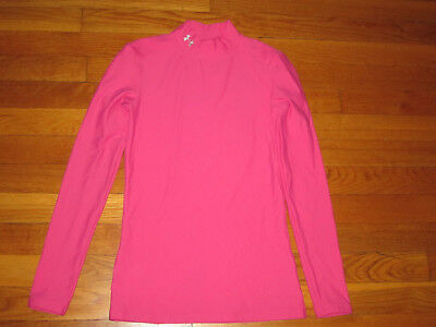 Under Armour Long Sleeve Pink Compression Jersey Womens Small Excellent