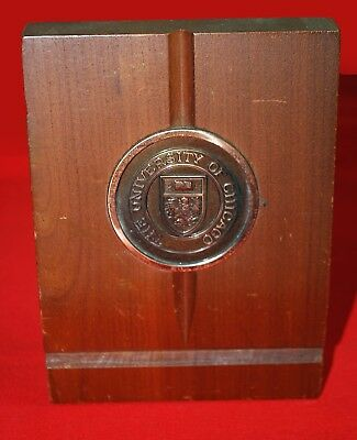 The University of Chicago Walnut Bookends, Gently Used, Hyde Park