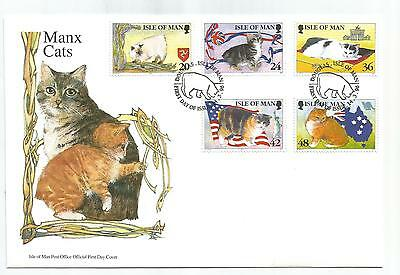 ISLE Of MAN 1996 MANX CATS SET OF 6 on FIRST DAY COVER