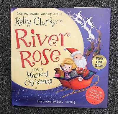 Kelly Clarkson Signed River Rose and the Magical Christmas Book AUTO Autograph