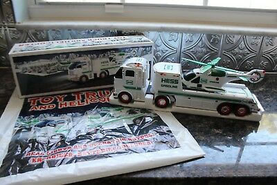 HESS 2006 TOY TRUCK & Helicopter w/ Original Box Inserts and BAG Mint