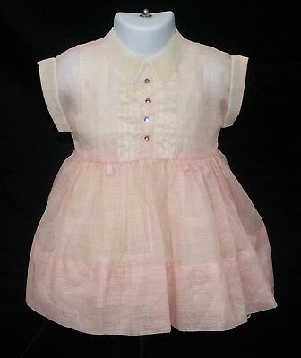 Vintage Kate Greenaway Frock Pink Girl's/Toddler Dress