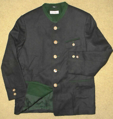 Noble TRAUNSEE TRACHTEN Austria WOOL Jacket LODEN Hunting Boys NEW Sz 152 (12)