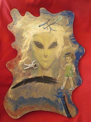 Mexican Folk Art Miguel Hernandez Eclectic Alien Oddity Collage