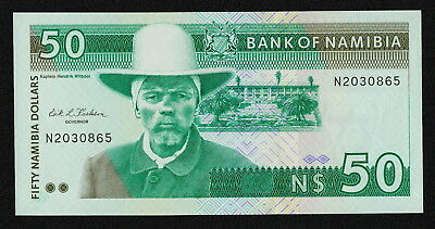 NAMIBIA (P02a) 50 Dollars ND(1993) UNC