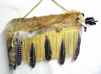 Red Fox Fur Leather QUIVER & ARROWS Set Native American Cherokee Indian Wet Foot