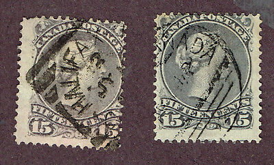 Canada Large Queens Fine Square Circle Cancels  (Ocr13
