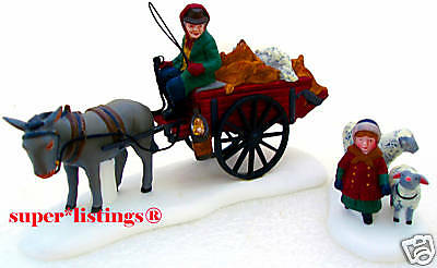 Dept. 56 Bringing Fleeces To The Mill Set of 2 Retired 1998 Dickens 58190
