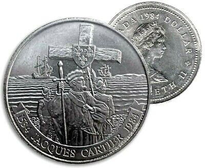 Canada 1984 Jacques Cartier UNC MS BU Dollar From Original Mint Roll!!