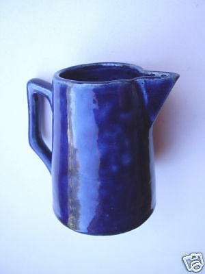Wembley Ware Calyx Shape Dark Blue Jug