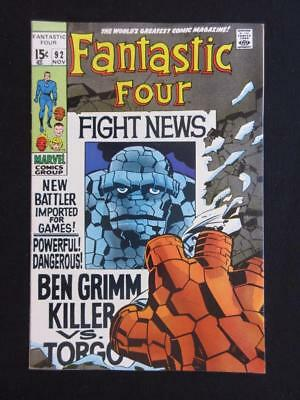 Fantastic Four #92 MARVEL 1969 - HIGH GRADE - The Thing app as a space Gladiator