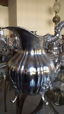 616g HIGH VINTAGE PALACE GALLONADA COLONIAL style PITCHER sterling SILVER
