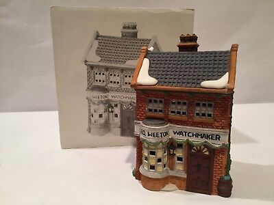 Dept 56 Dickens Village Geo Weeton Watchmaker With Box And Light