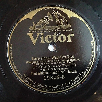 PAUL WHITEMAN There's Yes In Your Eyes VICTOR Jazz 20's  Victrola Record 78 rpm