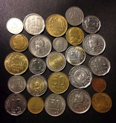 Old Argentina Coin Lot - 1909-Present - 25 Great Coins - Lot #N19