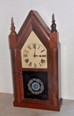 Antique Ansonia American Gothic-Style Cottage Steeple Chime Clock Working