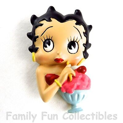 BETTY BOOP~1990s Vandor~Figural Magnet~Teenager~Sundae Doll Figure~NEW NOS