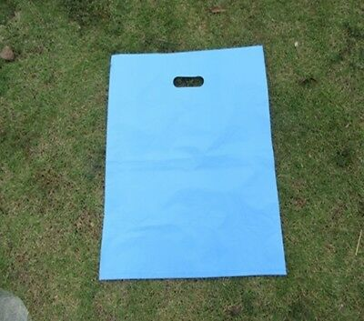 100 Blue Plastic Shopping Bags Gift Bag 54.5x45cm
