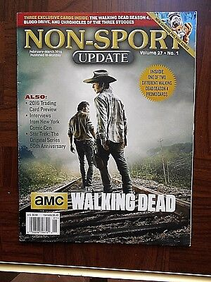 Feb/Mar/2016 Non-Sport Update Magazine (Walking Dead Cover) Vol. 27 #1 VF+