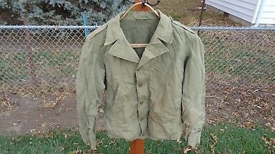 RARE WWII vintage US Army original M1941 combat field jacket khaki cotton sz 38