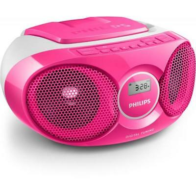3691260 Philips Ukw Cd-Radio Az215C Cd, Ukw Pink (Az215C/12)