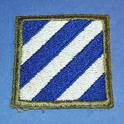 ORIGINAL CUT-EDGE WW2 3rd INFANTRY DIVISION PATCH