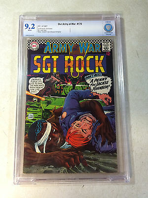 OUR ARMY AT WAR #179 CBCS 9.2 SGT ROCK, KUBERT, 1967, WAR, like CGC