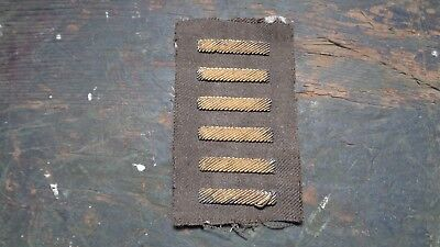 WWII vintage U.S. Army uniform bullion overseas service bar patches