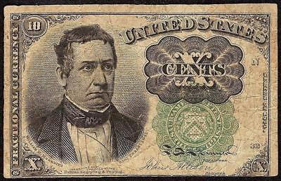10 CENT FRACTIONAL CURRENCY GREEN SEAL UNITED STATES NOTE PAPER MONEY Fr 1264