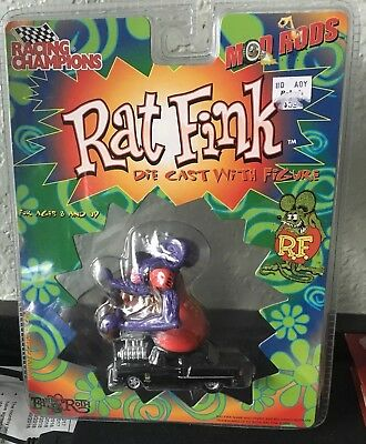 2000 Racing Champions Mod Rods Rat Fink Die Cast With Figure - New In Package