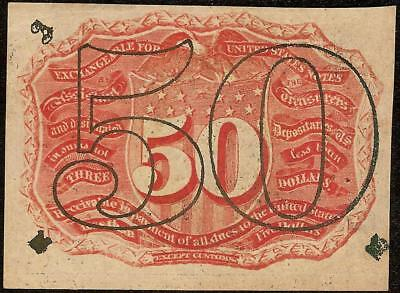 UNC 50 CENT FRACTIONAL NOTE UNITED STATES CURRENCY 1863-1867 PAPER MONEY Fr 1317