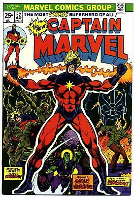 CAPTAIN MARVEL #32 F, Jim Starlin, Thanos cover & story, Marvel Comics 1974