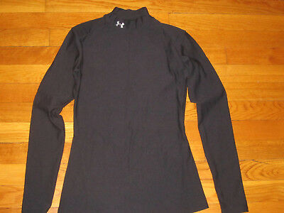 Under Armour Coldgear Long Sleeve Black Compression Jersey Womens Medium Exc.