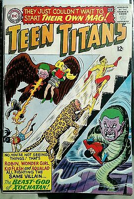 Teen Titans #1 DC 1966 - Silver Age VG Off White Pages