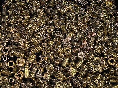 Metal Beads Asst Shapes 50g Golds Spacers DIY Jewellery Tibetan FREE POSTAGE