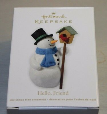 2012 Hello Friend Snowman/Cardinal Hallmark Ornament NIB From 10000 Pc Lot