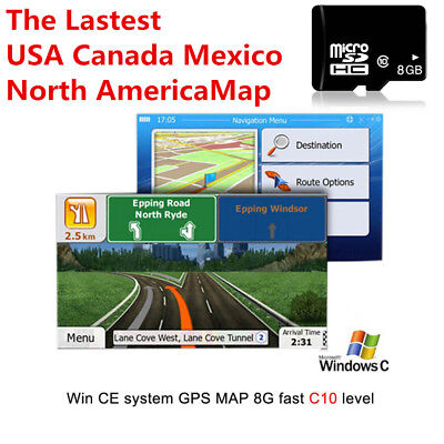 8GB Micro SD Card Car GPS Navigation Map Software For WinCE System MTK Main Chip
