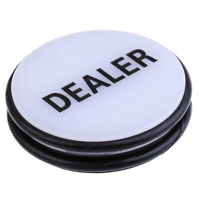 Large White & Black Acrylic Dealer Button Puck for Party Casino Supplies