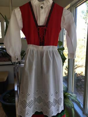 6 Yrs Eu116 Classic Red Beauty! Norwegian Festdrakt Cotton Bunad  From Norway