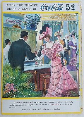 Advertising – Coca Cola – Massengale – 1906 Chromolithograph – Theater Magaizne