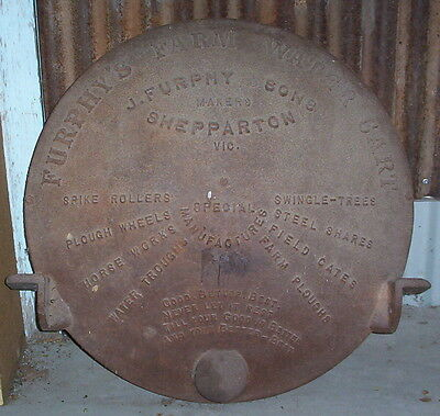 Antique 1898-1920 J Furphy And Sons Shepparton Farm Water Cart End+History Pages