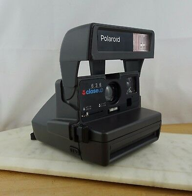 Vintage POLAROID 636 CloseUp Instant Film Camera WORKING Close Up