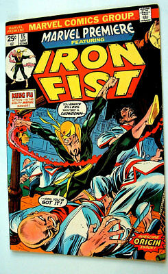 1974 Marvel Premier Iron Fist Origin Issue 7.5 Condition