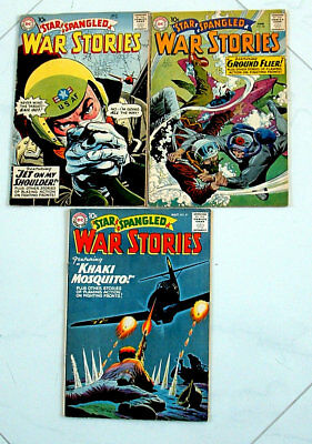 1959 Star Spangled War Stories Issues #81, 82 And 83 Comic Books