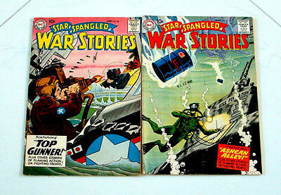 1959 Star Spangled War Stories Issues #67 And 80 Comic Books 6.0 Condition