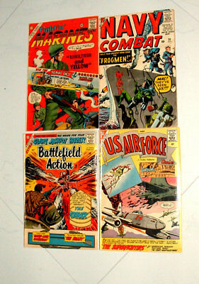 1950s US AIR FORCE NAVY COMBAT FIGHTIN MARINES & BATTLE FIELD ACTION COMIC BOOKS